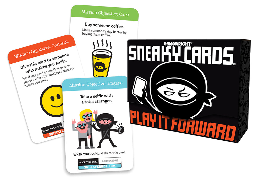 Sneaky Cards Play It Forward Interactive Card Game