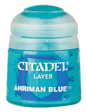 Citadel Layer Paint, 12ml Flip-Top Bottle - Ahriman Blue 12ml