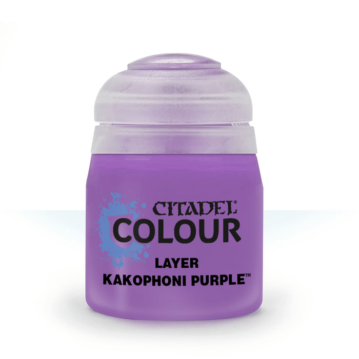 Citadel Layer Paint, 12ml Flip-Top Bottle - Kakophoni Purple