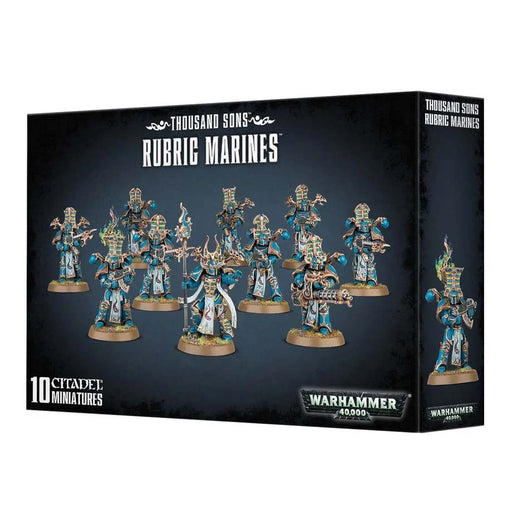 Warhammer 40K: Chaos Space Thousand Sons Rubric Marines Plastic Miniatures
