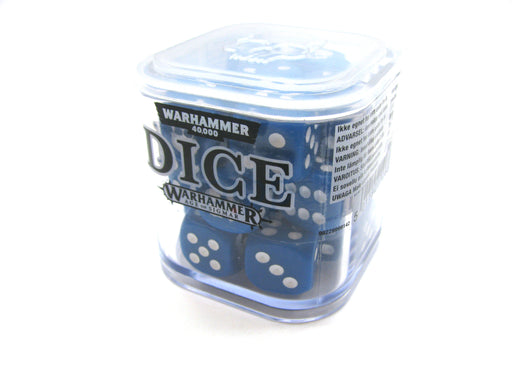 Games Workshop Citadel: Set of 20 Skull Ace 12mm Dice - Blue with White Pips