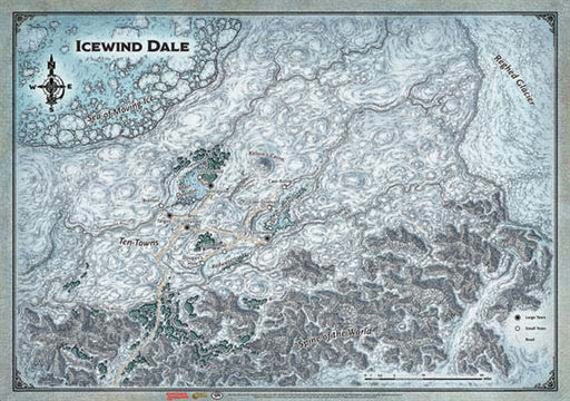 Dungeons and Dragons Icewind Dale RPG Map