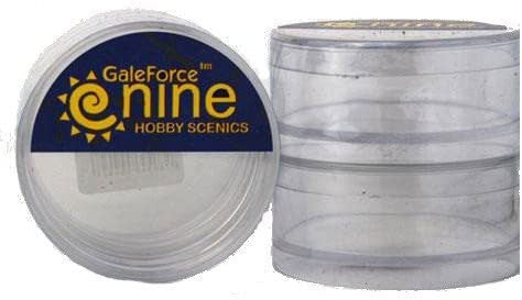 Gale Force Nine Miniatures Tools: Empty Round Clear Hobby Cases (2 Pieces)