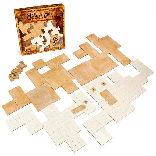 The Master's Atlas Reversible Worldcrafting Tiles - Blank and Parchment