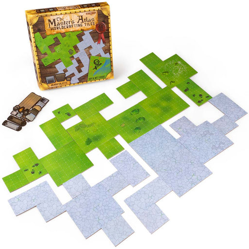 The Master's Atlas Reversible Worldcrafting Tiles - Grass and Stone