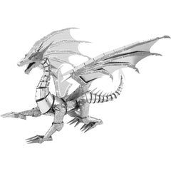 Fascinations ICONX Silver Dragon Laser Cut 3D Metal Model Kit