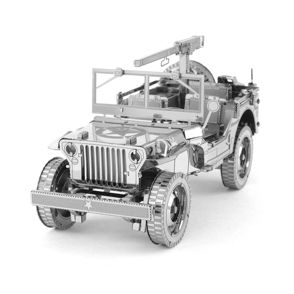 Fascinations ICONX Willys MB Jeep Laser Cut 3D Metal Model Kit