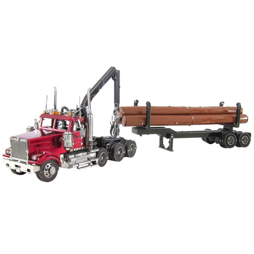 Fascinations ICONX Western Star 4900 Log Truck, Trailer Laser Cut 3D Metal Model