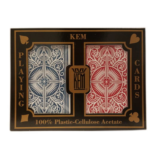Kem Arrow Narrow, Jumbo Index Red and Blue Deck Set