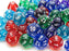 Limited Edition Bag of 50 Assorted Loose Translucent Polyhedral D12 Dice