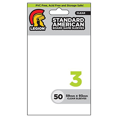 Legion Board Game Sleeves: Standard American (50)