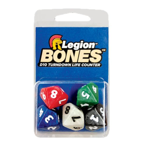 Pack of 5 Legion Bones D10 16mm Turndown Life Counter Dice