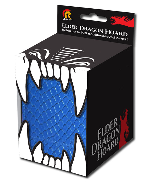 Legion Elder Dragon Hoard Vinyl Deck Box with Magnet - Blue