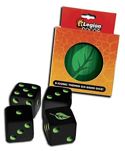 Legion Pack of 9 D6 16mm Iconic Dice in Matching Tin - Life