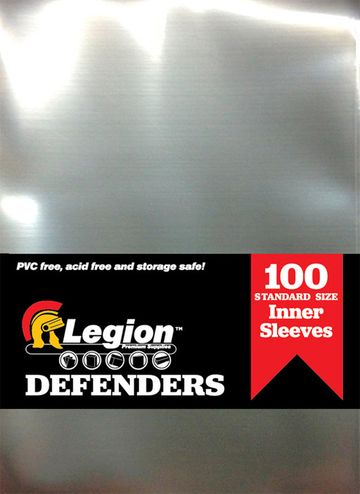 Legion Clear Perfect Fit Defender Sleeves (100) Standard Size