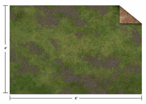 Monster Scenery Game Mat: 6'x4' - Broken Grassland / Desert Scrubland (Ungridded)