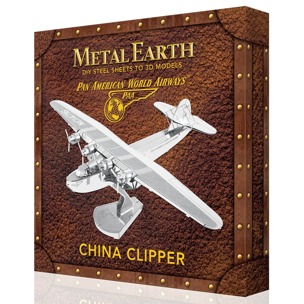 Fascinations Metal Earth Pan Am China Clipper Gift Set Laser Cut 3D Metal Kit