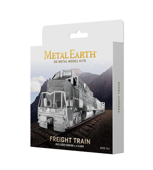 Fascinations Metal Earth Gift Box Set Freight Train Laser Cut 3D Metal Kit
