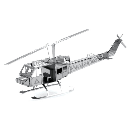 Fascinations Metal Earth Huey UH-1 Helicopter Laser Cut 3D Metal Model Kit