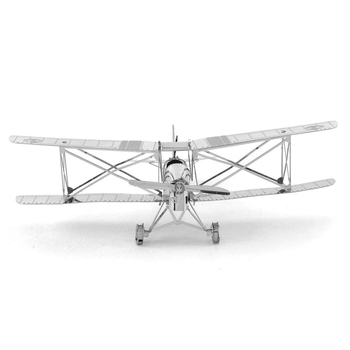 Fascinations Metal Earth DH82 Tiger Moth Plane Laser Cut 3D Metal Model Kit
