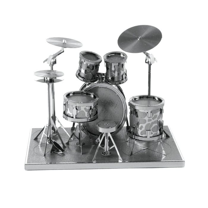 Fascinations Metal Earth Drum Set Laser Cut 3D Metal Model Kit