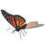 Fascinations Metal Earth Monarch Butterfly 3D Metal Model Kit