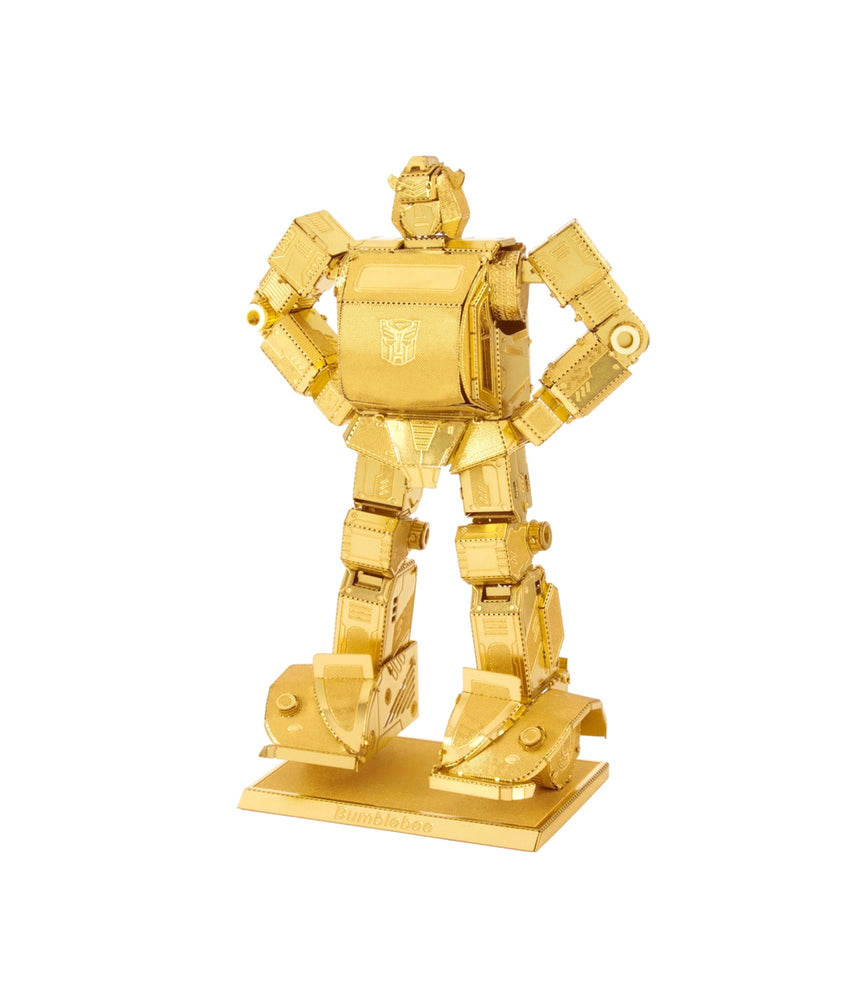 Fascinations Metal Earth Bumblebee Transformers Gold Laser Cut 3D Metal Kit