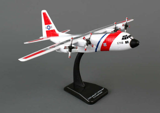 Sky Kids USCG C-130H 1/130 Scale Plastic Toy Airplane with Stand