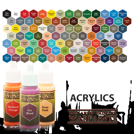 The Army Painter Acrylic Warpaints: 18mL Eyedropper Bottle Paint for Miniatures