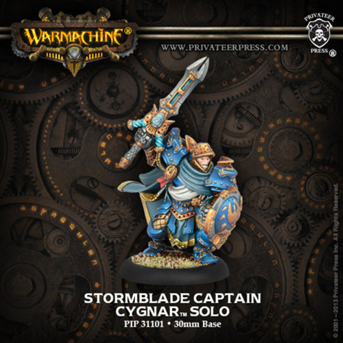 Warmachine Cygnar Stormblade Infantry Captain Storm Knight Solo Metal Unpainted