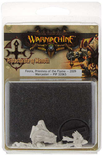 Warmachine: Feora, Preistess of the Flame Warcaster #32065 Unpainted Miniature
