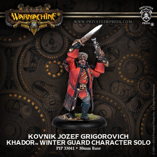 Warmachine Khador Kovnik Jozef Grigorovich Winter Guard Character Solo Unpainted