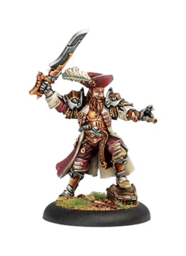 Warmachine Mercenaries Captain Bartolo Montador Privateer Warcaster Unpainted