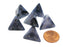 Phantom 18mm 4 Sided D4 Chessex Dice, 6 Pieces - Black with Silver
