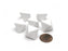 Blank Opaque 15mm 8 Sided D8 Chessex Dice, 6 Pieces - White