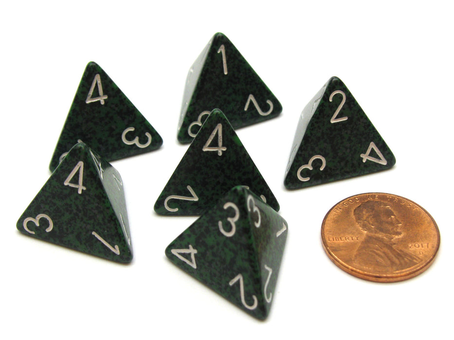 Speckled 18mm 4 Sided D4 Chessex Dice, 6 Pieces - Recon