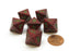 Speckled 15mm 8 Sided D8 Chessex Dice, 6 Pieces - Strawberry