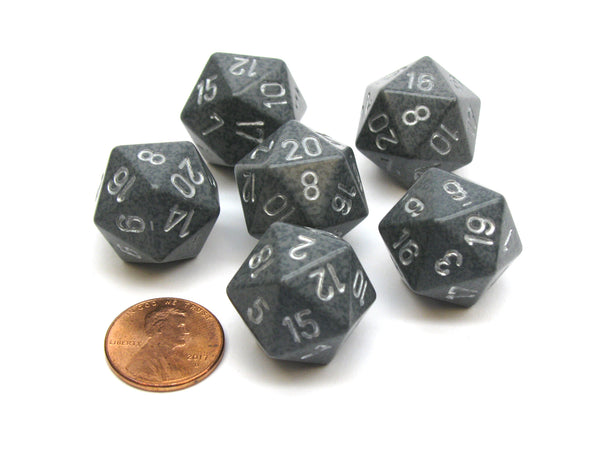 Speckled 20 Sided D20 Chessex Dice, 6 Pieces - Hi-Tech