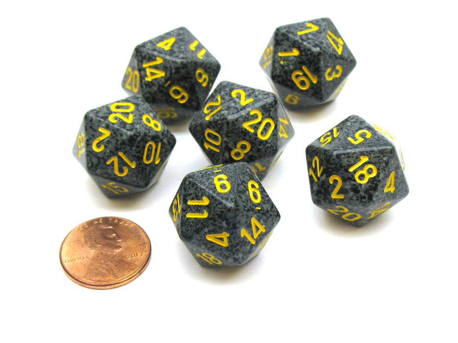 Speckled 20 Sided D20 Chessex Dice, 6 Pieces - Urban Camo