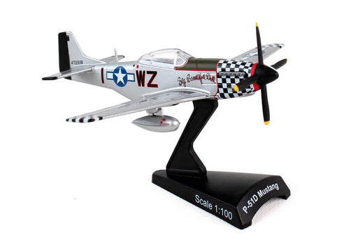 Diecast Metal Historical Airplane - P-51D Big Beautiful Doll 1/100 Plane