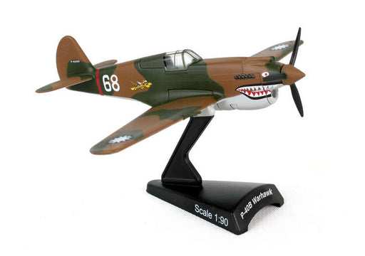 Diecast Metal Historical Airplane with Stand - P-40 Hells Angel 1/90 Scale Plane