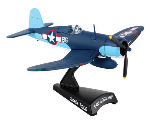 Daron Postage Stamp F4U Corsair 1/100 Pappy Boyington #86 VMF Model Aircraft