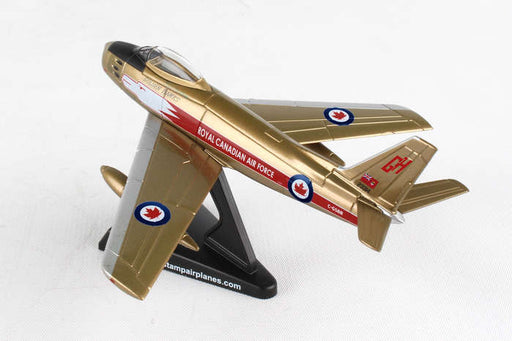 Daron Postage Stamp RCAF Canadair Sabre 1/110 Golden Hawks Model Fighter Jet