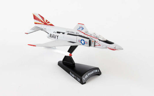 Diecast Metal Historical Airplane with Stand - F-4B Phantom II Sundowners 1/155