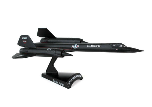 Diecast Metal Historical Airplane with Stand - USAF SR-71 Blackbird