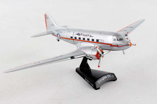 Diecast Metal Airplane w/ Stand - American DC-3 Flagship Tulsa 1/144 Scale Plane