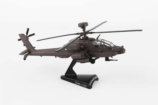 Diecast Metal Historical Helicopter - US Army AH-64D Apache Longbow 1/100 Scale
