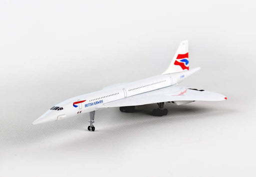 Diecast Metal Historical Airplane - British Airways Concorde 1/350 Plane