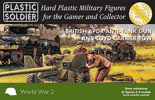 15mm Easy Assembly: 6 Pdr and Loyd Carrier #WW2G15003 Unpainted Miniature