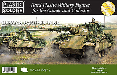 15mm Easy Assembly German Panther Tank #PSC WW2V15012 Unpainted Miniatures